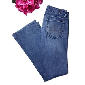 7 FOR ALL MANKIND A Pocket Denim Boot Cut Jeans 27